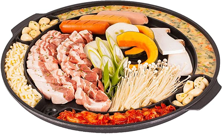 CookKing CKMT Master Grill Pan, Korean Traditional BBQ Indoor Outdoor Nonstick Plate, Made in Korea