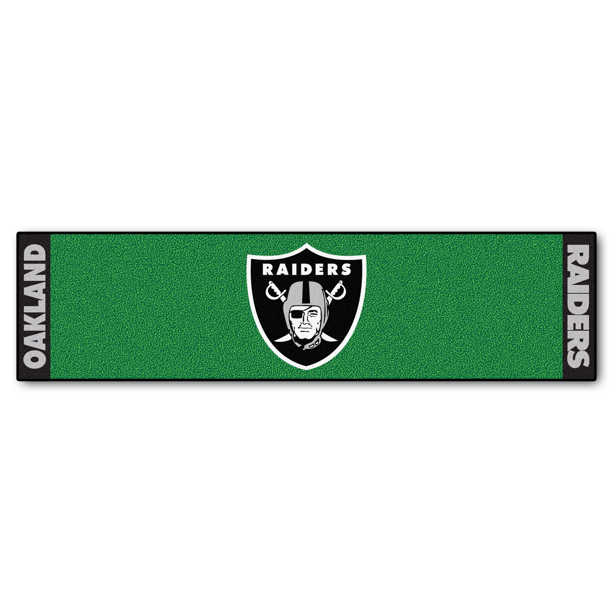 Fanmats NFL Oakland Raiders Nylon Face Putting Green Mat by Fanmats (Image #1)