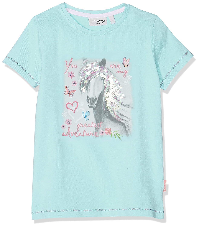 SALT AND PEPPER M/ädchen Sweetie Uni Volant T-Shirt