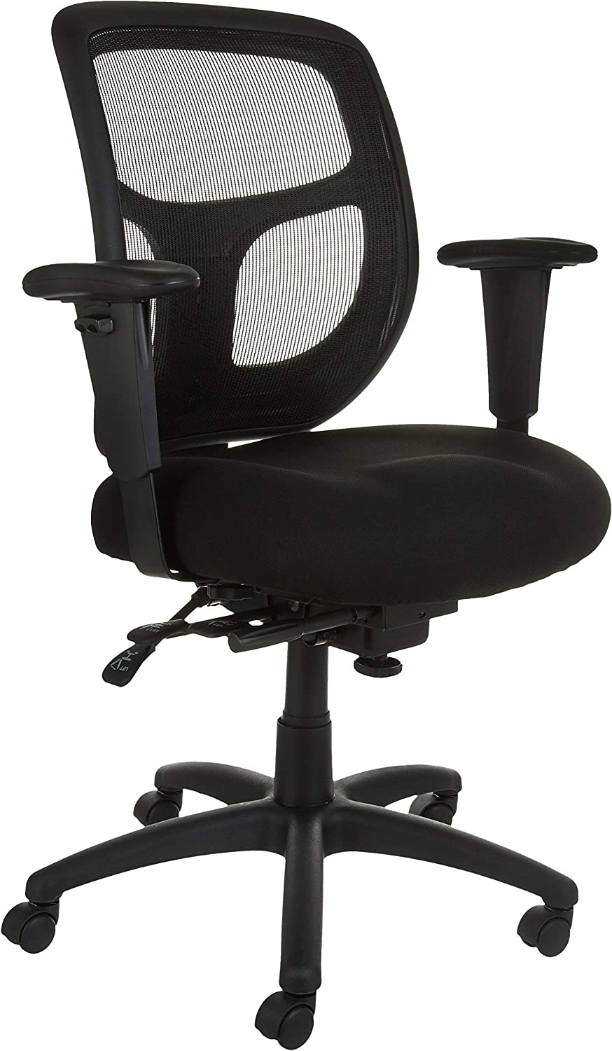 AmazonBasics Mesh Fabric Executive Mid-Back Office Desk Chair, Black