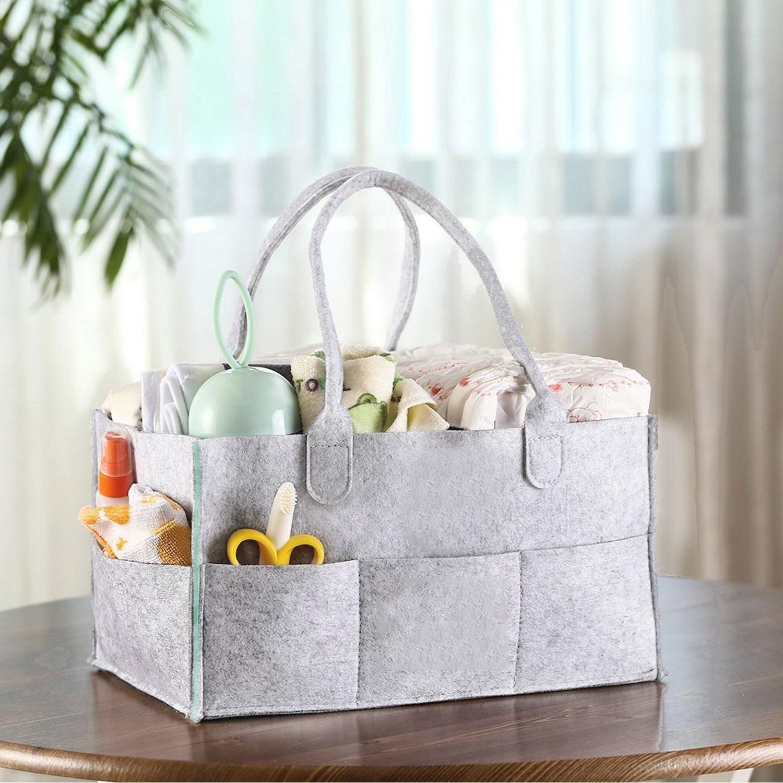 Bolsa de Almacenamiento de Bebé,niceEshop(TM) Organizador de Capa de Fieltro, Ropa / Toallas / Bolsa de Pañales / Juguetes para Viajar, Acampar (gris y ...