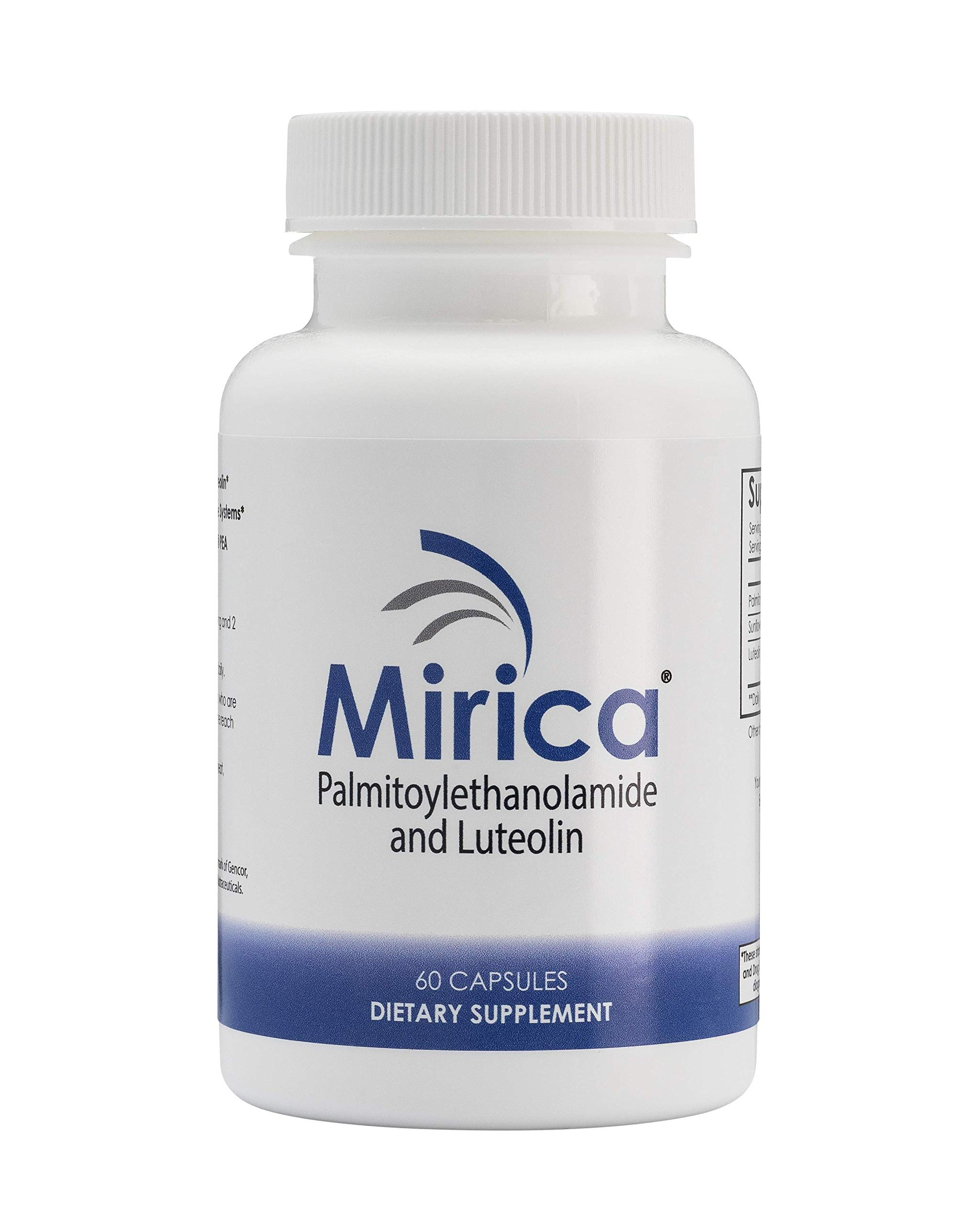 Mirica® - Pea (Palmitoylethanolamide) and Luteolin - Immune & Nervous System Support - Pain Relief - Anti-Inflammatory Supplement - 60 ct
