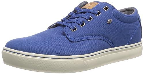 British Knights Wood Low - zapatilla deportiva de lona hombre, color azul, talla 40
