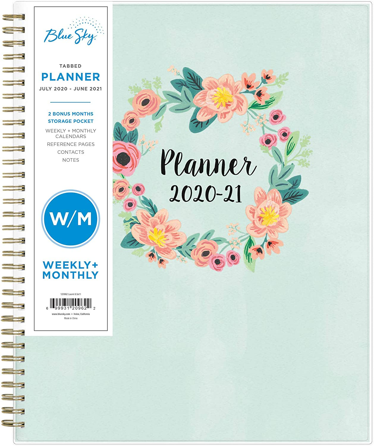 Bluesky Calendar 2021 Amazon.: Blue Sky 2020 2021 Academic Year Weekly & Monthly