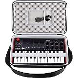 Funda para controlador MIDI compatible con AKAI Professional MPK Mini MK3/Play/MKII 25 teclas USB MIDI. Soporte de viaje con