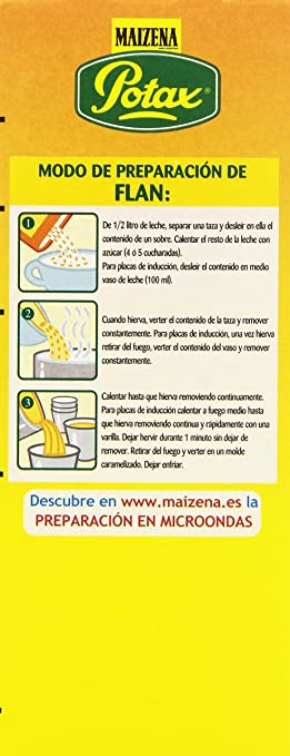 Maizena Potax Preparado para Flanes y Natillas - 192 g: Amazon.es: Amazon Pantry