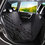 Pet Seat Cover, WINSEE Dog Seat Covers With Seat Anchors for Cars, Trucks, and Suv's - Black, WaterProof & NonSlip Backing