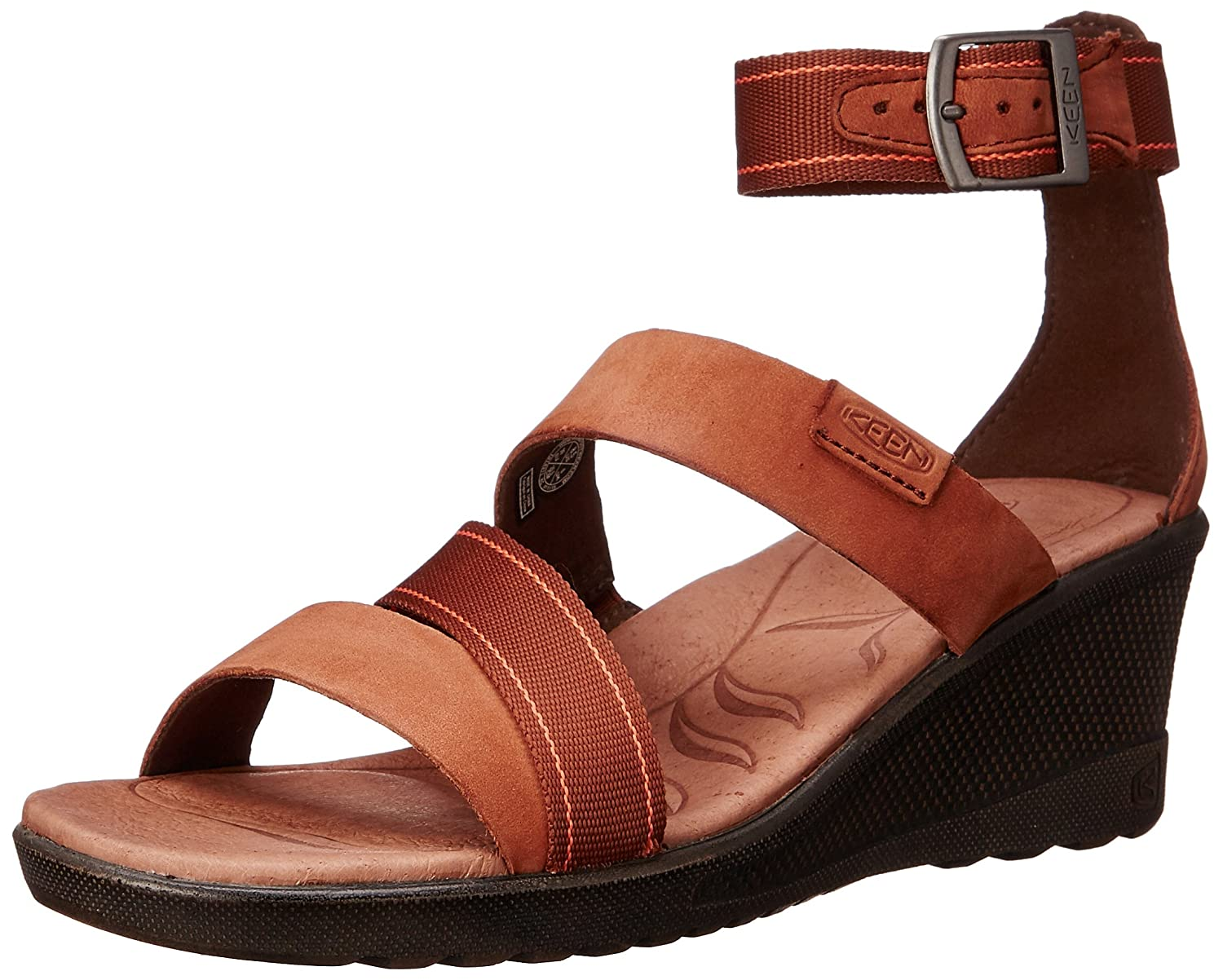 KEEN Women's Skyline Ankle Wedge Sandal B00ZFLG34Q 6 B(M) US|Tortoise Shell