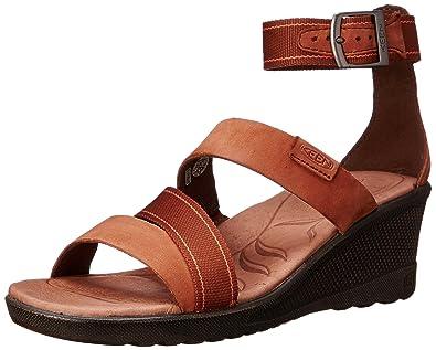 KEEN Women's Skyline Ankle Wedge Sandal, Tortoise Shell, ...