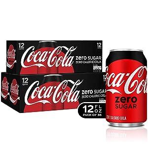 Coca-Cola Zero Sugar Fridge Pack Bundle, 12 fl oz, 36 Pack