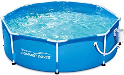 Summer Waves Active 8ft x 30in Round Frame Above Ground Outdoor Swimming Pool with Filter Pump