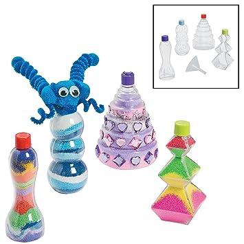 Diversión Express Funny arena arte botellas manualidades para niños arena arte – 12 piezas
