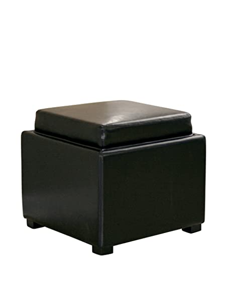 Awesome Baxton Studio Full Leather Square Storage Ottoman With Ncnpc Chair Design For Home Ncnpcorg
