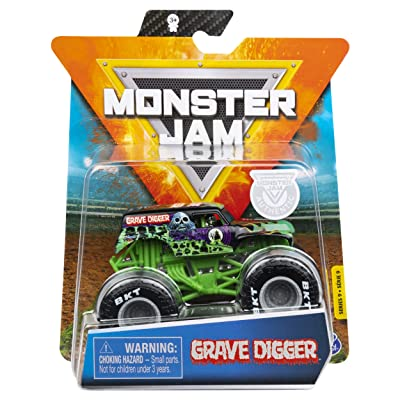 Spin Master Monster Jam Series 9 Grave Digger 1:64 Scale with VIP Wristband: Toys & Games