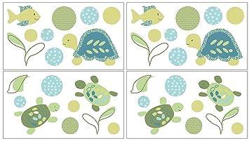 CoCaLo Turtle Reef Wall Decals Aqua/Green  sc 1 st  Amazon.com & Amazon.com: CoCaLo Turtle Reef Wall Decals Aqua/Green: Baby
