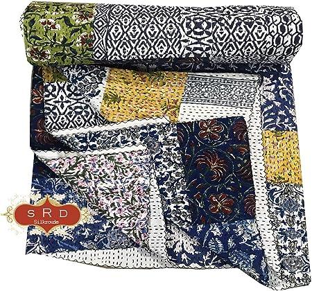 silkroude - Funda de Cama de algodón Indio, diseño de Patchwork ...