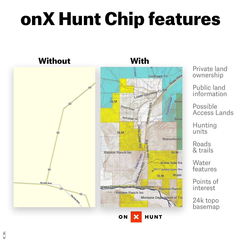 Amazoncom OnX HUNT Montana Digital Hunting Map For Garmin GPS - Onx map app