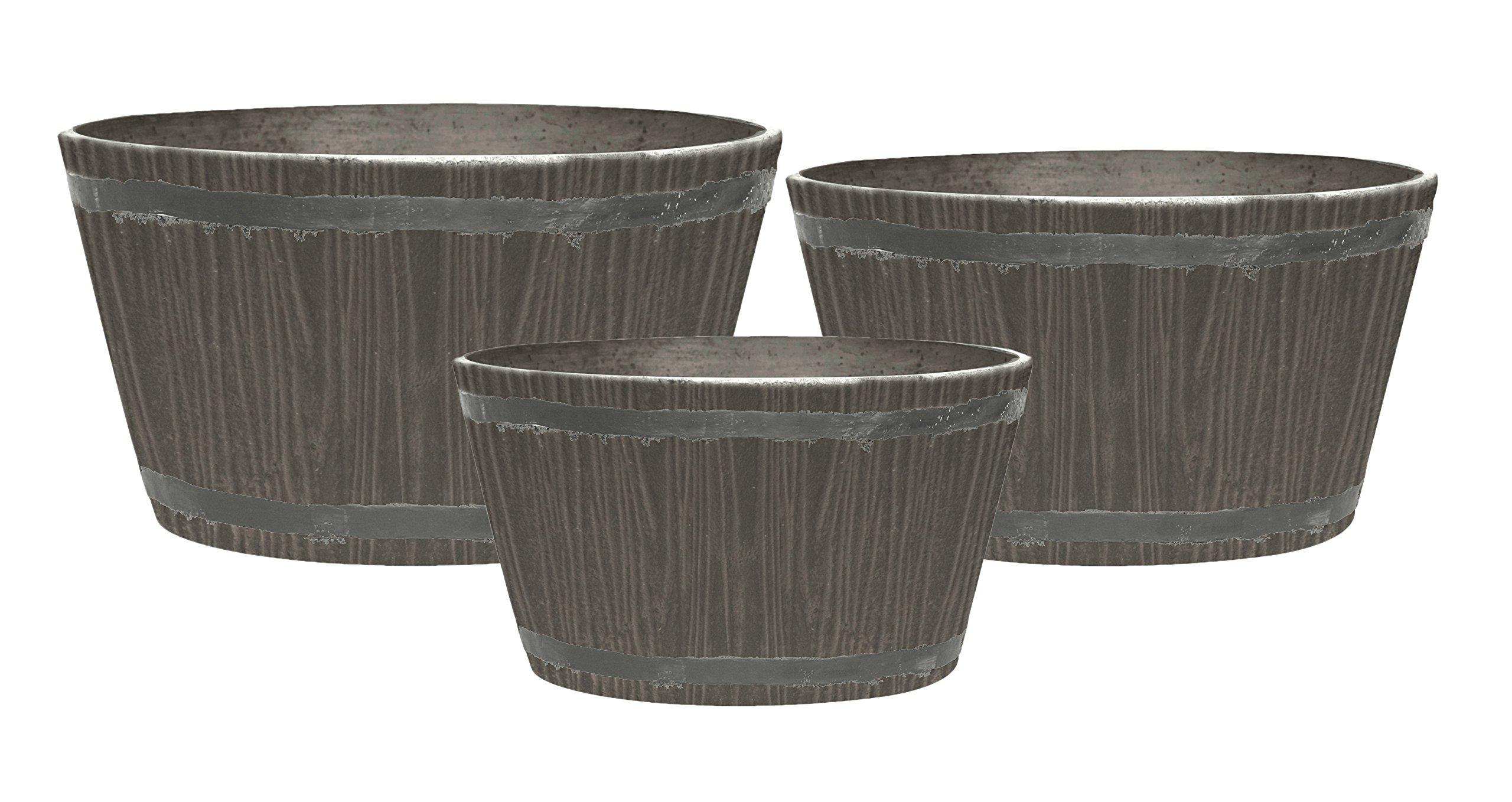 Stone Light DL Series Cast Stone Planter, Color - Sandalwood