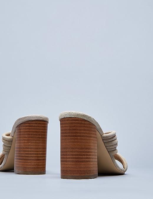 FIND Sandalias de Tiras Cruzadas y Tacón Para Mujer: Amazon.es: Zapatos y complementos