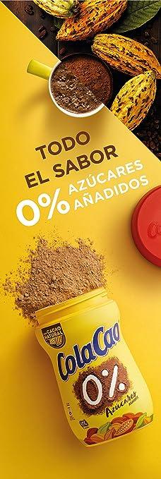Cola-Cao - Polvo de cacao, 0% azúcares, 300 g