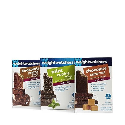 Amazon Com Weight Watchers Mini Bars Variety Pack 12