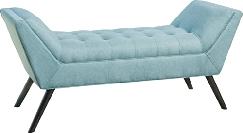 Christopher Knight Home Demi Fabric Bench, Blue