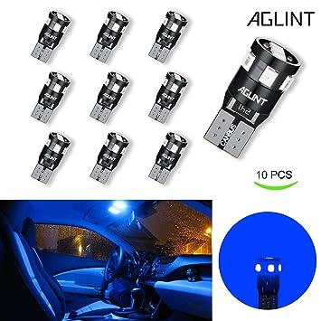 AGLINT T10 W5W CANBUS Sin error Bombillas LED Car 9 SMD 2835 LED 2825 Cuña Lámpara ...