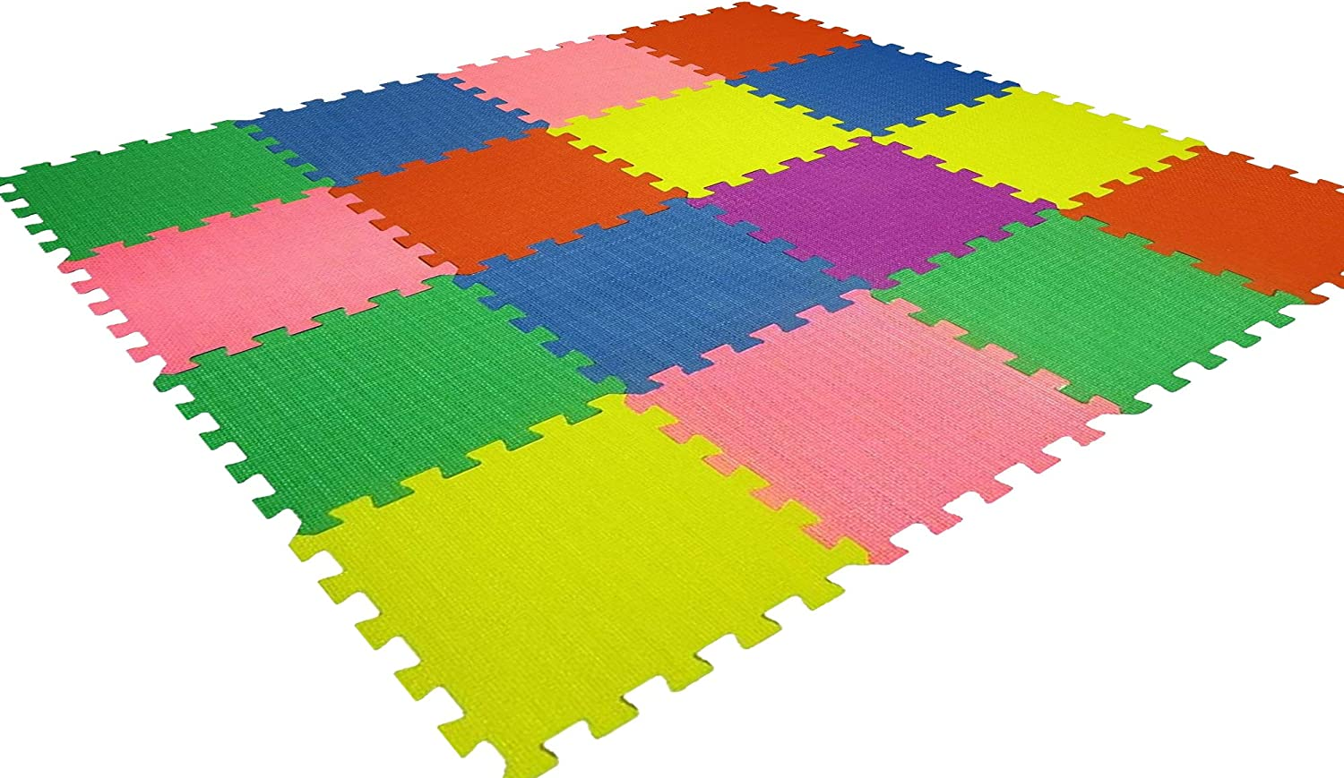 Kids Playmat Baby Foam Play-Mat - 16 X-Large Eva Soft Tile, Toddler Infant Safe - Ideal Gift Play Area Child Room, Interlocking Puzzle Multi Color Flooring Exercise Yoga Pilates Game Yard Superyard: Sports & Outdoors