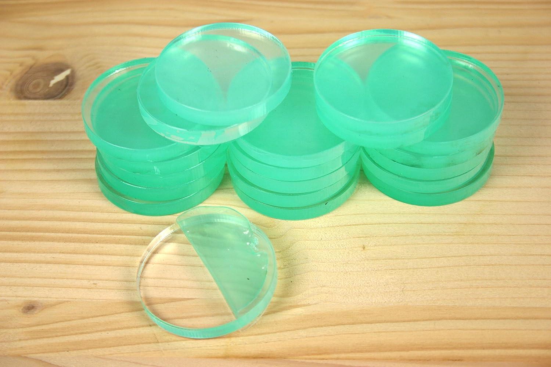-diam/ètre 40 mm 20 Pi/èces :  acrylique coupe ronde transparent avec film de protection d/écran /épaisseur 5 mm