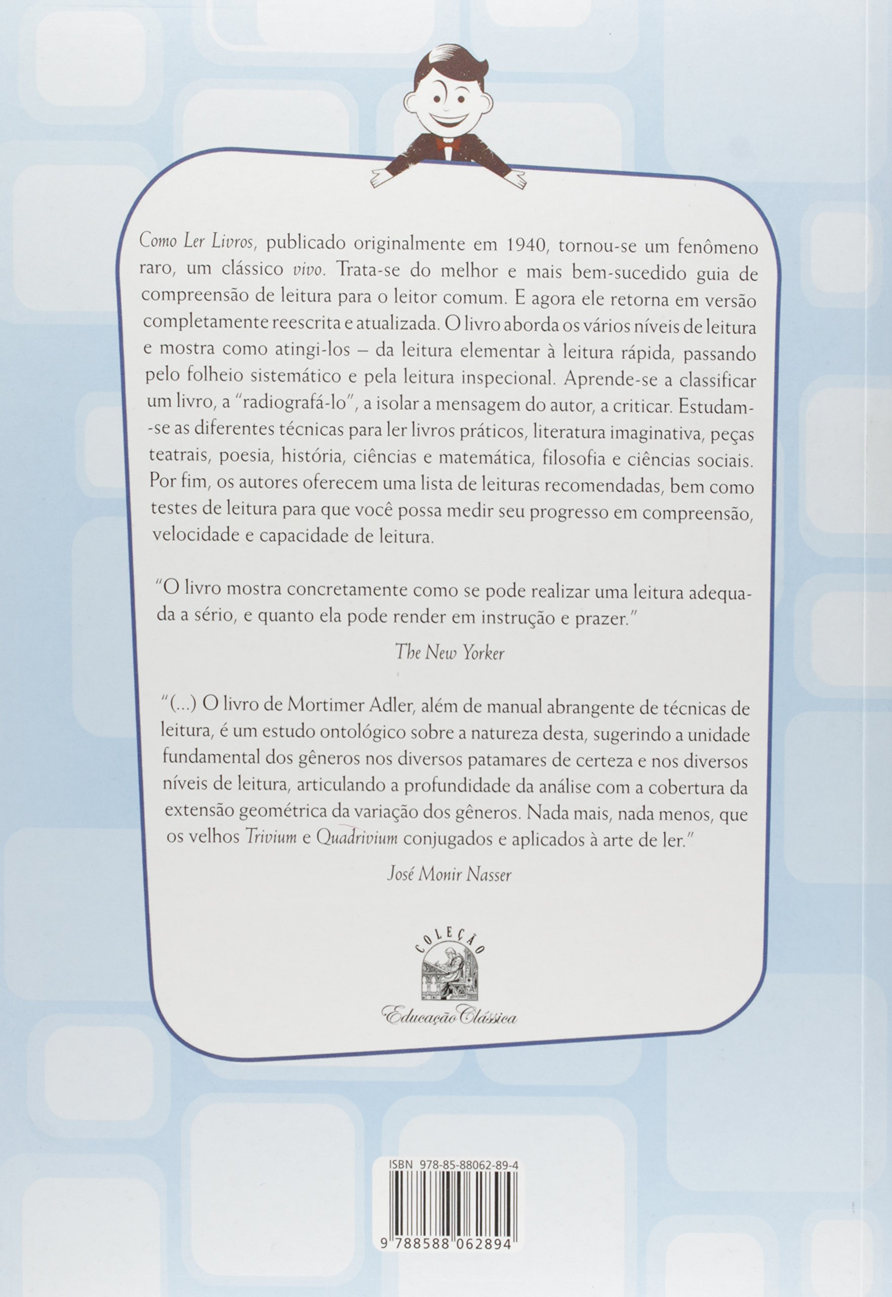 Livro 'Como Ler Livros' por Mortimer Adler