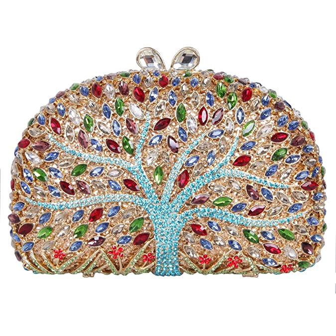 Amazon.com: fawziya Wishing Tree Pattern Bling embrague ...