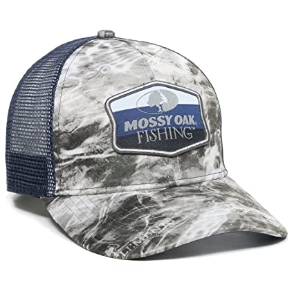 Amazon.com  Mossy Oak MOFS16A Outdoor Cap Manta Navy Mesh Back ... 713b6166bb9
