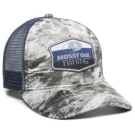 Amazon.com  Mossy Oak MOFS16A Outdoor Cap Manta Navy Mesh Back ... a9bf437fad76