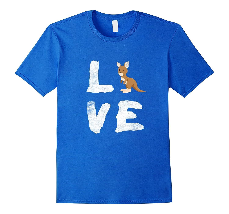 I Love Kangaroo Australia Pride Animal T-shirt Gift Tee-AZP