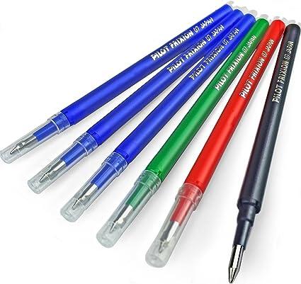 Pilot Frixion – Recambio de bolígrafo – 0,7 mm tamaño mediano ...
