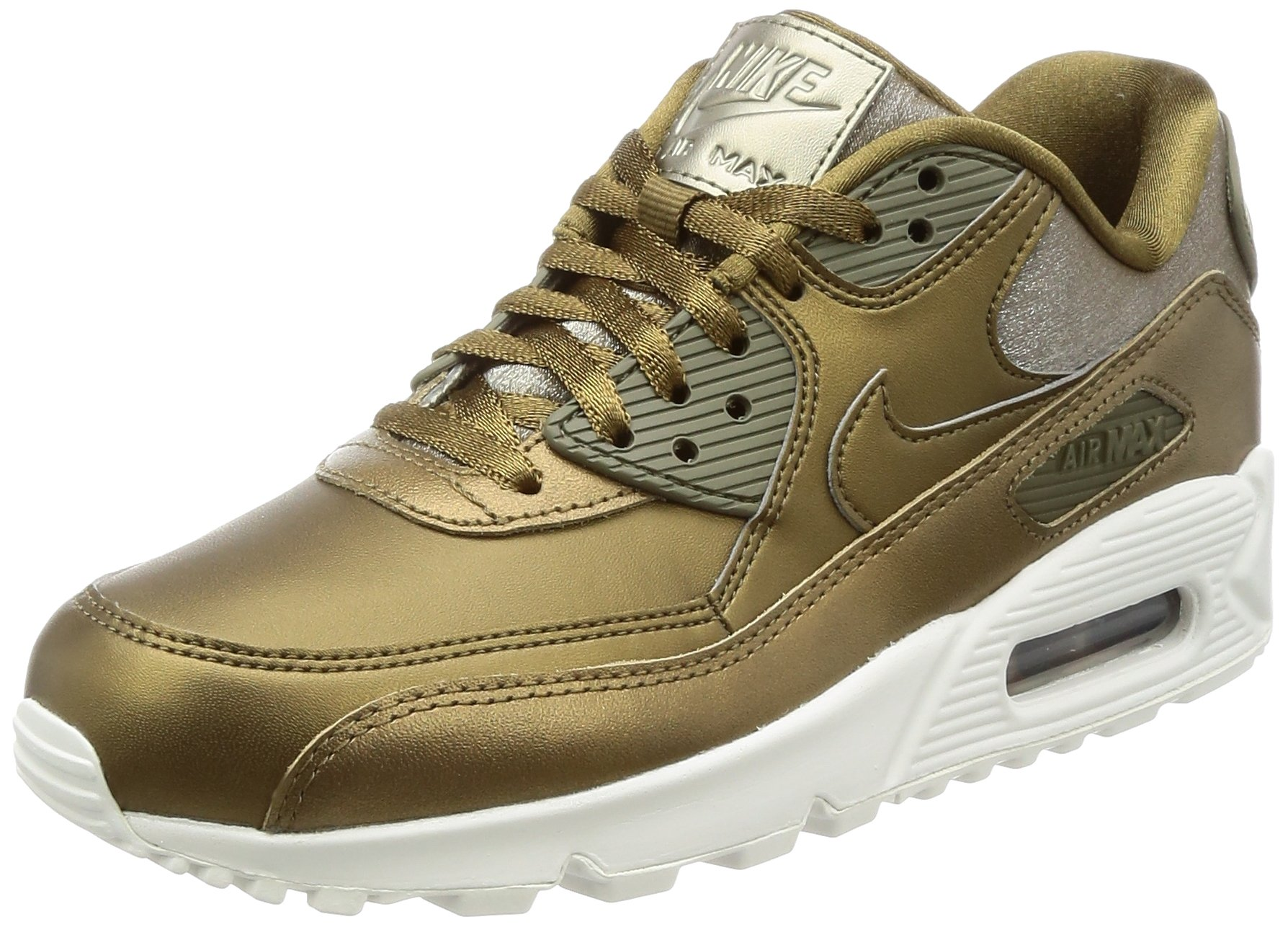 the latest 6122d f9aca Galleon - Nike Air Max 90 Premium Metallic Bronze Metallic Field (Womens)  (7.5 B(M) US)