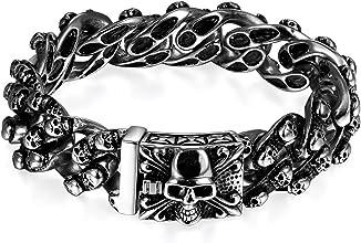 bracelet tête de mort homme 2