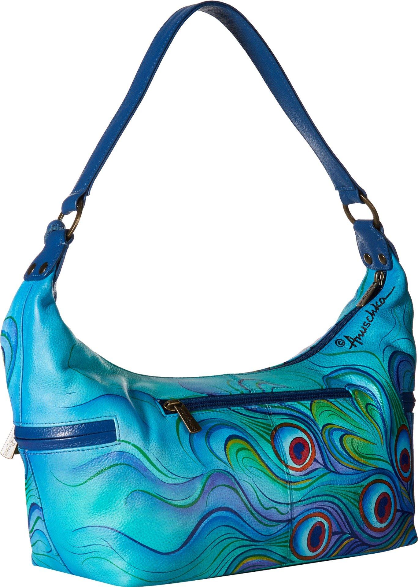 Anuschka Handbags Women's 510 East West Medium Hobo Jewelled Plume Handbag by ANUSCHKA (Image #2)