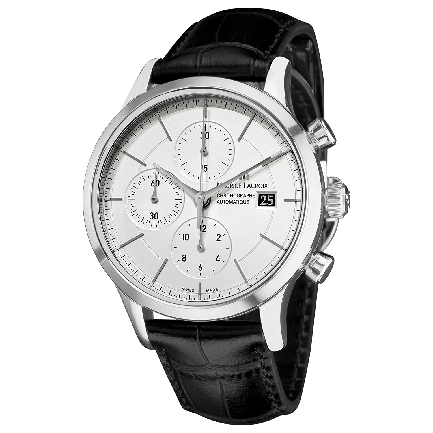 Amazon.com: Maurice Lacroix Mens LC6058-SS001130 Les Classiqu Chronograph Automatic Watch: Maurice Lacroix: Watches