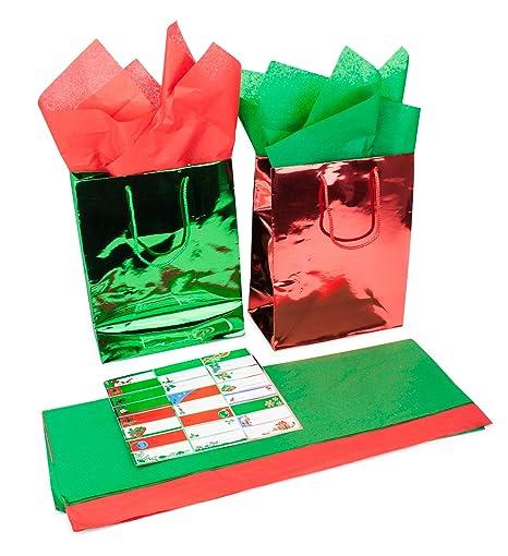 Amazon.com: 57 piezas regalo de día festivo Set: 8 rollos de ...