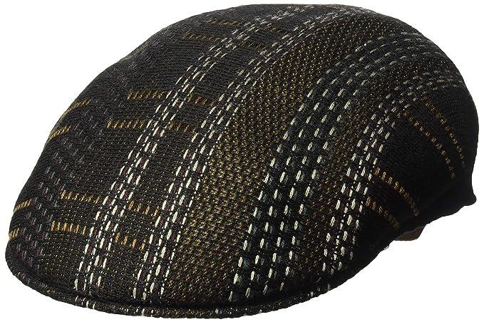 f606a24b1 Kangol Men's Pixel Plaid 504 Flat Ivy Cap Hat