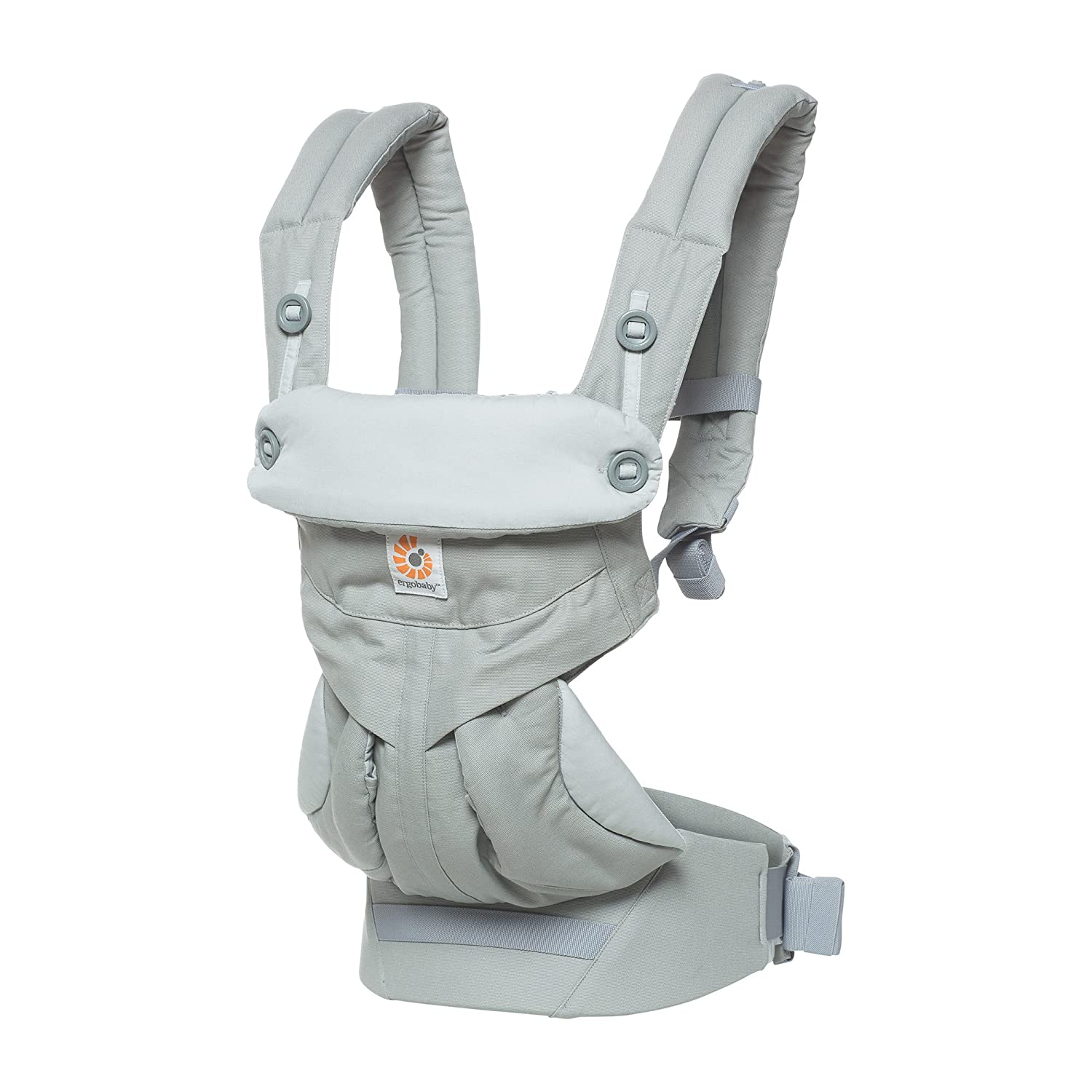 Ergobaby 360 All Carry Positions Award-Winning Ergonomic Baby Carrier, Pearl Grey BC360PEARL