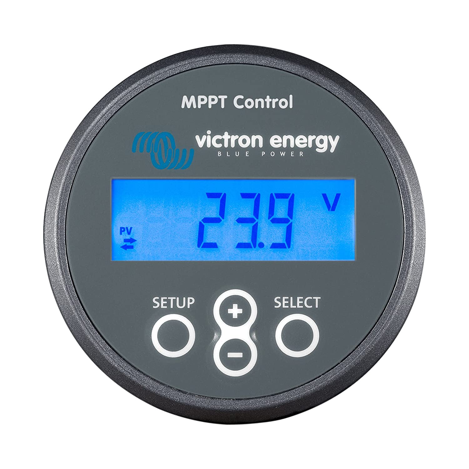 to monitor Victron BlueSolar or SmartSolar MPPT solar charge controllers with a VE.Direct port Victron VE.Direct MPPT Control panel with LCD Display