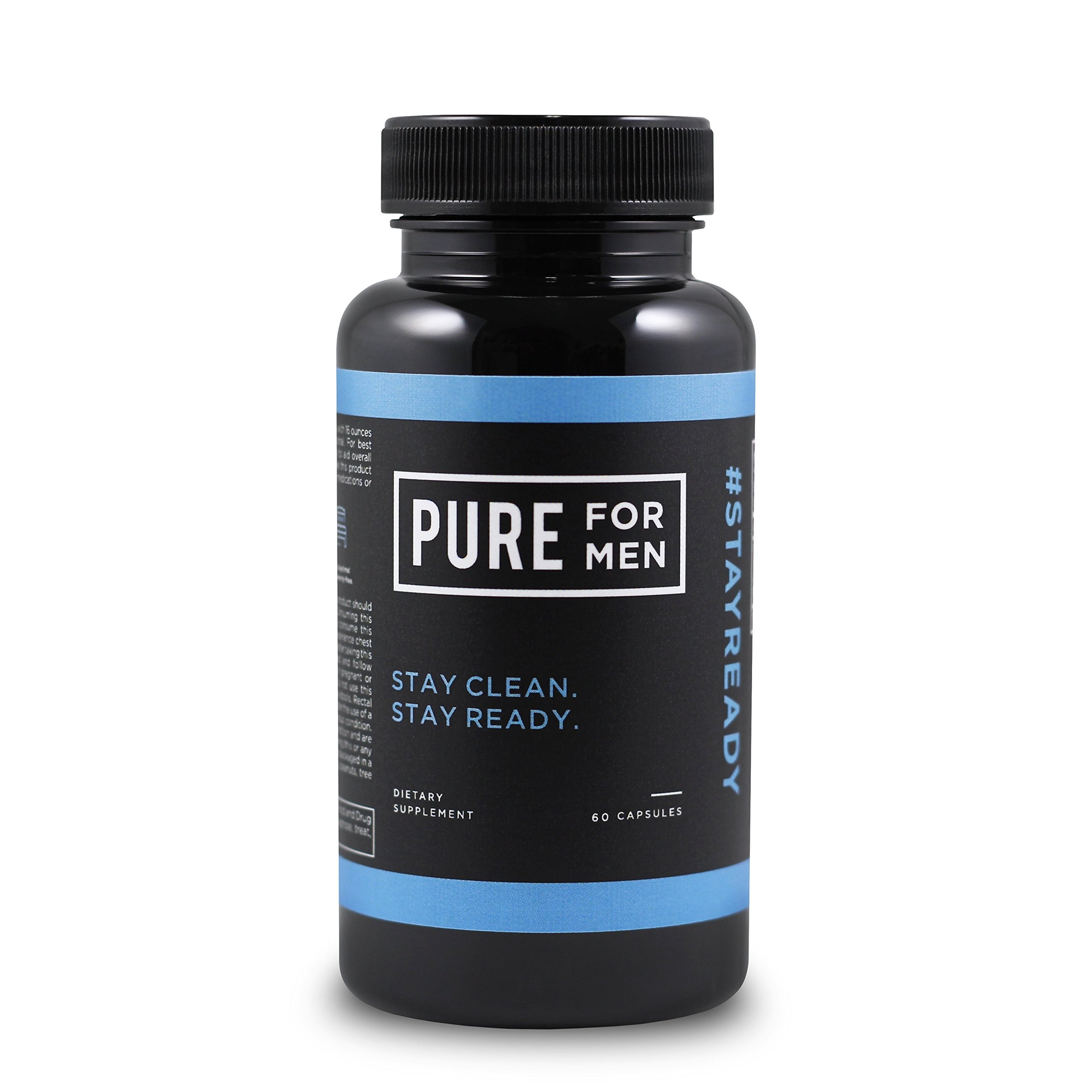 Pure for Men - The Original Vegan Cleanliness Fiber Supplement, 60 Capsules - Proven Proprietary
