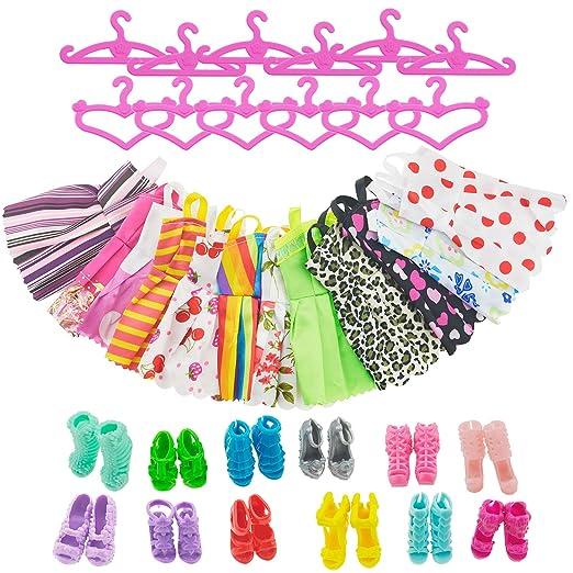 172 opinioni per Asiv 12 Abiti 12 Paia di Scarpe Grucce per Barbie Accessori Regali per bambino