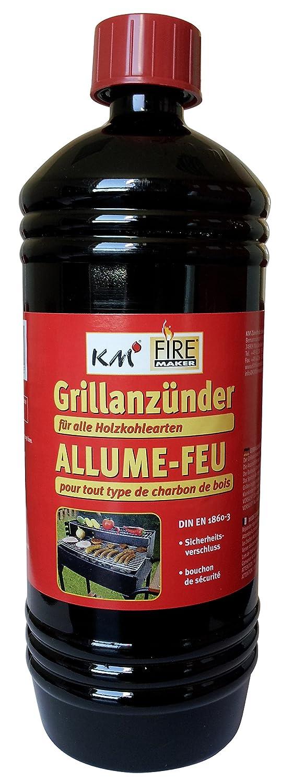 KM Firemaker 1000ML Accendifuoco per barbecue Liquido, Art. 306