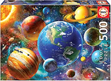 Educa Puzzle 500 Piezas, Sistema Solar (18449): Amazon.es ...