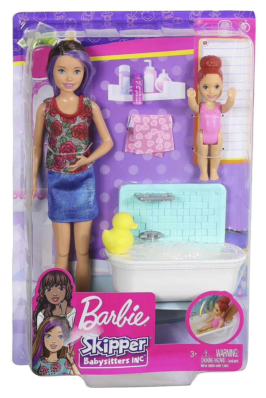 Bathtime Playset Mattel FXH05 Barbie Skipper Babysitters Inc