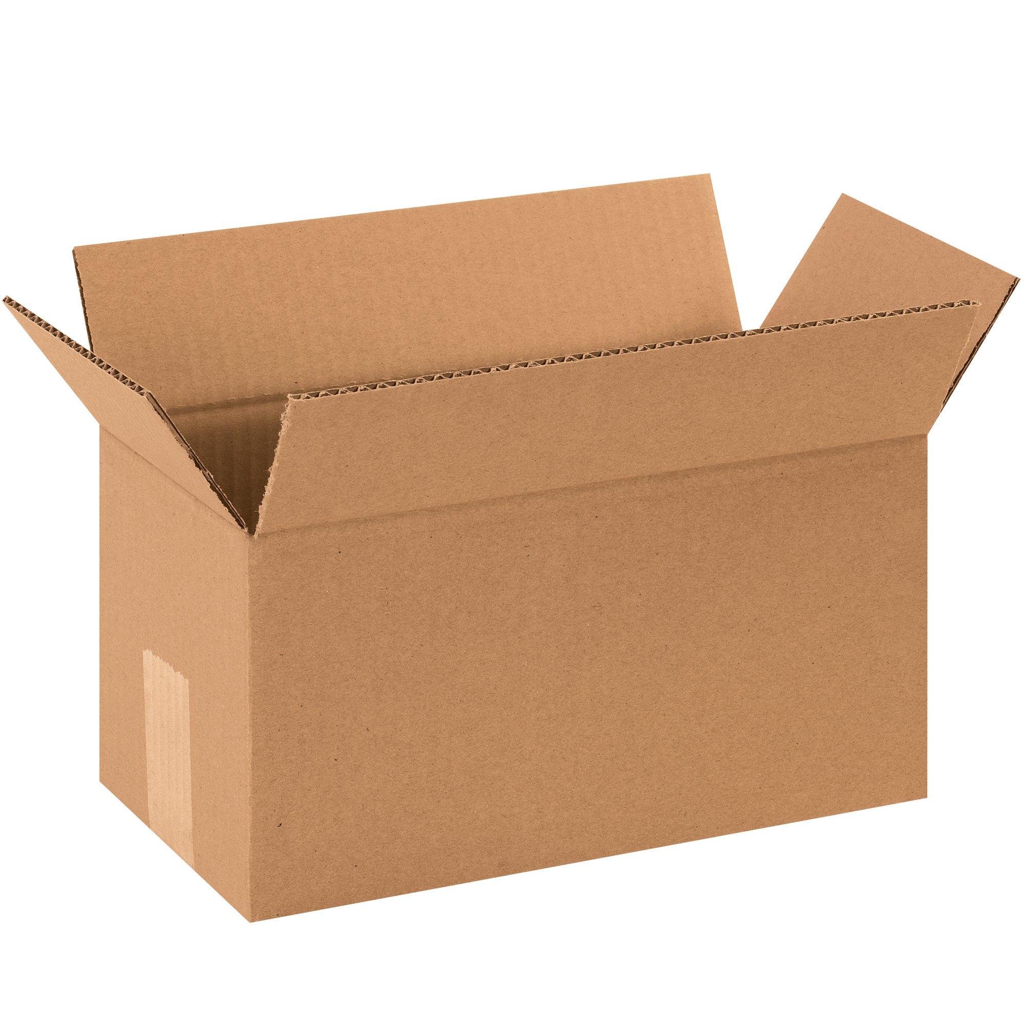 BOX USA B12662000PK Long Corrugated Boxes, 12''L x 6''W x 6''H, Kraft (Pack of 2000)
