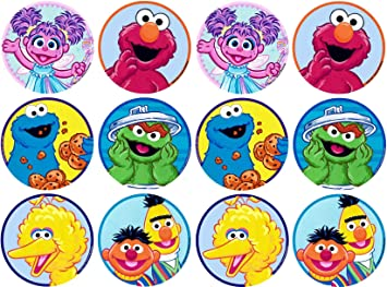 Sesame Street Elmo Bert Oscar The Grouch Cookie Monster